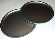 Italian Cooking Concepts TWO 30cm Pizza Pans for baking Pizzas, cookies or Biscuits