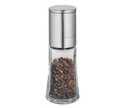 Cilio C613285 Bari Glass and Stainless Steel Spice & Pepper Mill, 14cm