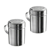 (Pack of 2) 300ml Stainless Steel Dredges With Handle