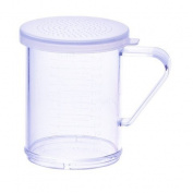 Winco PDG-10CS, 300ml Plastic Dredge with Clear Snap-on Lid, Seasoning Sugar Spice Pepper Shaker with Small Holes