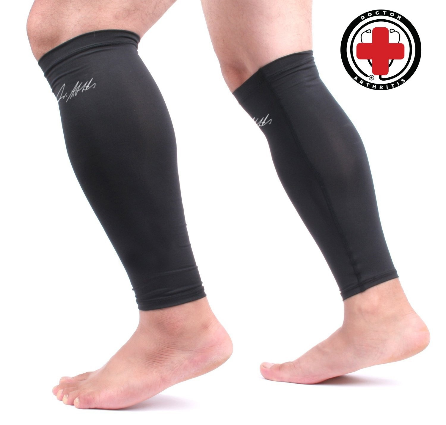 97091b96bc Doctor Developed Copper Infused Calf Compression Sleeve / Shin ...