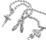 Ballet Dance Ballerina 925 Sterling Silver 3D Double Sided Charm Bracelet, 18cm