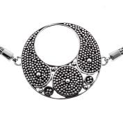 Handmade Granulation Filigree 925 Sterling Silver Bracelet, 19cm - 20cm