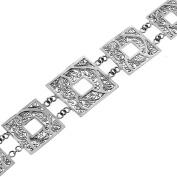 Handmade Swirling Filigree 925 Sterling Silver Bracelet, 18cm - 20cm