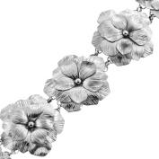Handmade Garedenia Rose Flower 925 Sterling Silver Bracelet , 20cm
