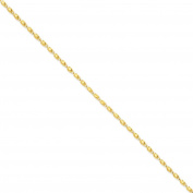 14K Yellow Gold 2.50MM Marquise Rope Link Bracelet