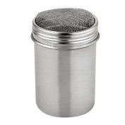 WinnerEco Stainless Chocolate Shaker Cocoa Flour Icing Sugar Powder Coffee Sifter Lid