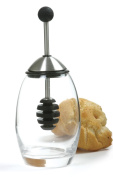 Honey Dipper Set Glass Stainless Steel Silicone Dipper Set