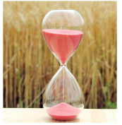 Graces Dawn Transparent glass hourglass Sand Timer 60 minutes with