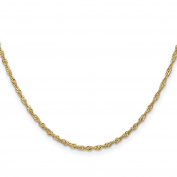 14K Yellow Gold 1.70MM Singapore Link Bracelet