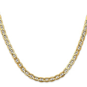 14K Yellow Gold 5.10MM Semi-Solid Anchor Link Bracelet