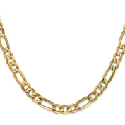 14K Yellow Gold 6.00MM Concave Open Figaro Link Bracelet