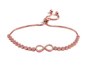 Peermont Jewellers 18k rose gold plated sterling silver Cubic Zirconia infinity friendship bolo adjustable bracelet