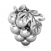 BELLA FASCINI Wine Harvest Grapes Bead Charm Silver Fits All Compatible European Bracelets and Bangles
