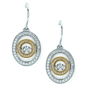 Brilliance in Motion 14K White and Yellow Gold 1/2 Ctw. Diamond Dangling Earrings