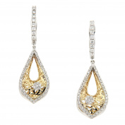 D'sire 18k Yellow and White Gold Diamond (TDW 0.786 carats) Dangle Earrings