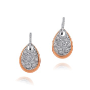 D'sire 18k Rose and White Gold Diamond (TDW 0.481 carats) Dangle Earrings
