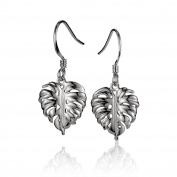 Sterling Silver Monstera Leaf Dangle Earrings