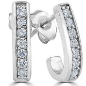 1/3ct Diamond Hoops 14K White Gold