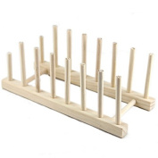 TTnight Wooden Dish Rack for 7 Plates Display Holder Home Kichen Dish Holds