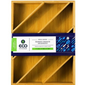 Diagonal Space Saving Bamboo Drawer and Cabinet Organiser Divider by Eco Kitchenware