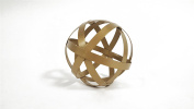 Small Gold Metal Band Decorative Sphere