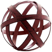 Red Metal Band Decorative Sphere