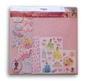 Sandylion Disney Princess Scrapbook Themepack with Stickers, Paper, and Punch-Out Sheet