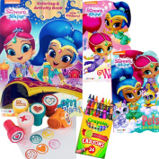 Shimmer and Shine Colouring Book and Board Books Set - Includes 1 Colouring Book with over 30 Stickers, 2 Board Books , 24 Crayola Crayons and 6 Stampers