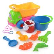 9pcs Kids Beach Bucket, Misaky Toys Castle Spade Shovel Rake Water Tools