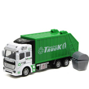Qisc 1:48 Back In The Toy Garbage Truck Toy 22cm x 5.5cm x 3.38cm