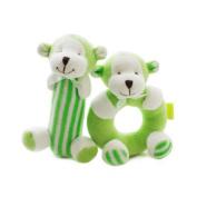 SHILOH Baby Rattle Plush Toy Doll Gift Animals Green Monkey