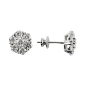 D'sire 18k White Gold Diamond (TDW 2.180 carats) Stud Earrings