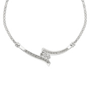 Sterling Silver 1/4 CTTW Diamond 43cm Bypass Necklace