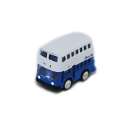 Double Decker Bus Pull Back Play Toy Vehicles School Bus Die Cast Bus with Lights and Sounds - iPlay, iLearn (Blue) by iPlay, iLearn