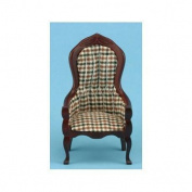 Dollhouse Plaid Victorian Gents Chair by Classics
