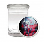 Harley Quinn Wanna Play With Me Sexy Comic Book Medical Odourless Glass Jar