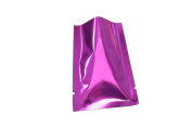 100PCS Glossy Purple/Rose Metallic Foil Open Top Mylar Bags 8x12cm