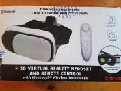 Craig 3D Virtual Reality Headset and Remote Control with Bluetooth Wireless Technology