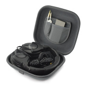 Headphones Carrying Case for ATH M40, M40X, M50, M50S, M50x, WS99, WS99BT, AX3is, M10, AX5, AX5iS, ANC27, ANC27x, WS55, ANC29, PRO500MK2, ANC9, ANC25, ESW9 / Headset Hard Shell Protective Travel Bag