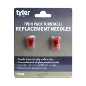 Tyler Ceramic Ruby Tip Turntable Replacement Record Needle - Pack of 2