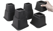 Easygoing 20cm Adjustable Bed or Furniture Risers to 8, 5 or 7.6cm in Height, Heavy Duty Bed Lifts, 8pcs