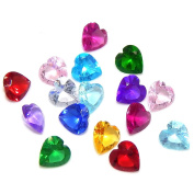 Pro Jewellery 1 Pack of 12 Assorted Mix Heart Birthstone Crystal 5mm for Floating Charm Lockets 002 by Pro Jewellery