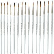 Fine Detail Paint Brush Set 15 Miniature Artist Brushes for Paintings Art Acrylic, Watercolour, Oil