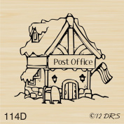 Christmas Village Post Office Rubber Stamp By DRS Designs