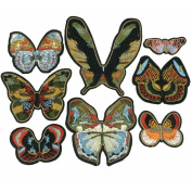Embroidered Butterfly Patch Clothing Vintage Decoration Applique (different size & style)