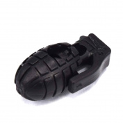100pcs Black Grenade Style Cord Lock Stopper for Paracord