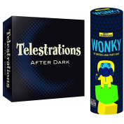 Adult party game bundle Telestrations After Dark and Wonky!