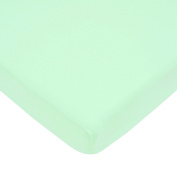 American Baby Company 100% Cotton Value Jersey Knit Fitted Portable/Mini Crib Sheet, Mint
