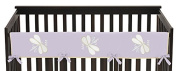 Sweet Jojo Designs Purple Dragonfly Dreams Long Front Rail Guard Baby Teething Cover Crib Protector Wrap